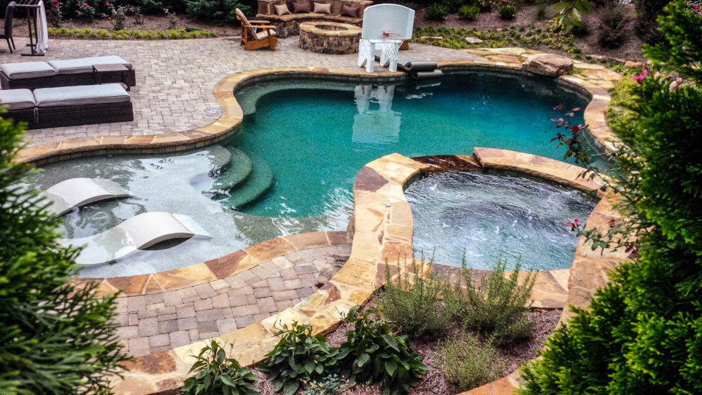 "alt=""backyard pool design for your outdoor space"""